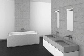 Elegant concrete bathroom