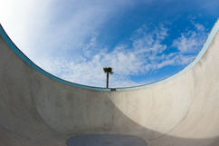 Huge concrete pool
