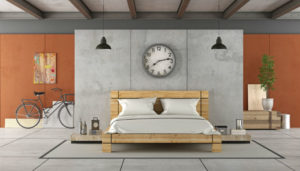 Concrete Slab Bedroom