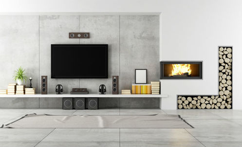 Designer Concrete Living Area