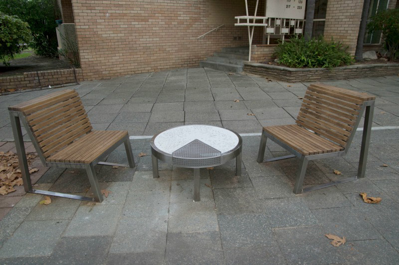 Low Concrete Outdoor Table