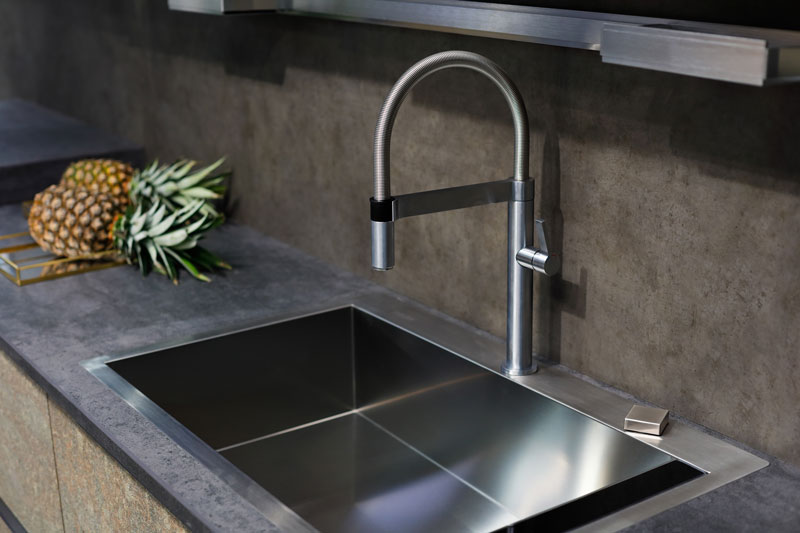 A custom concrete sink made to order