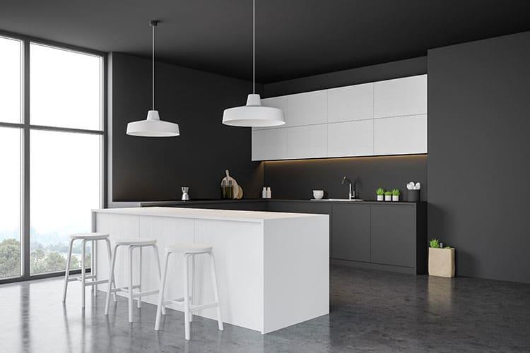 kitchen concrete polished flloor