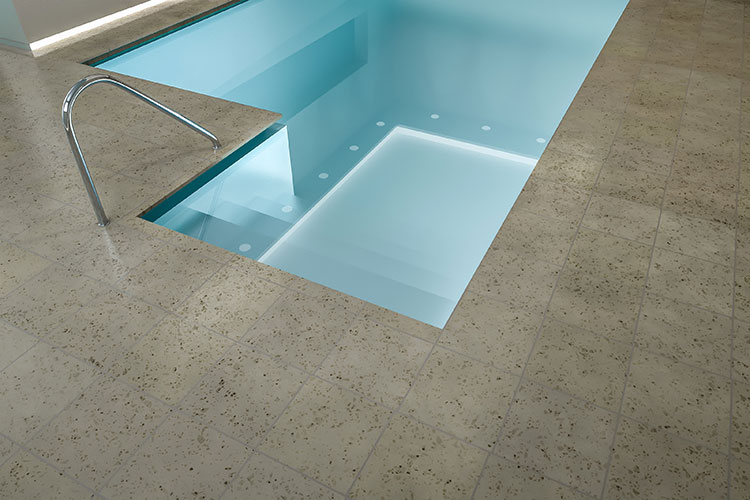 Example of concrete swimming pool